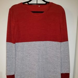 Long sleeve two-toned sweater
